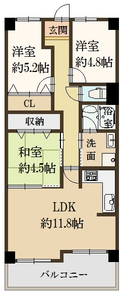 3LDKの間取り♪(間取)